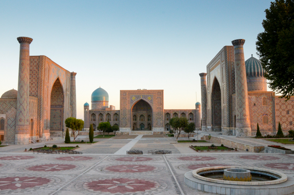 Registan at dawn