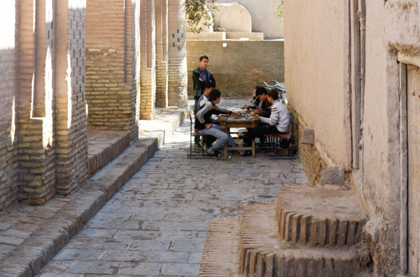 Leatherworkers in Khiva