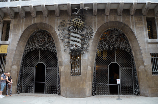Entry to Palau Guell